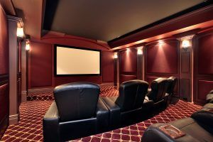 man cave decorating idea Home Theatre